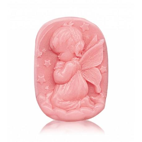 """RELIÉFNÍ glycerinové mýdlo """"andělíček - pink"""""""