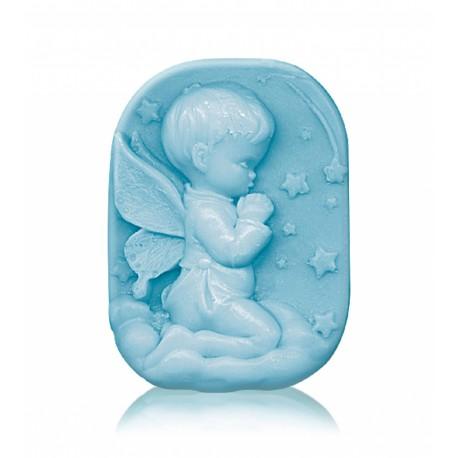 """RELIÉFNÍ glycerinové mýdlo """"andělíček - blue"""""""