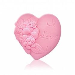 """RELIÉFNÍ glycerinové mýdlo """"srdce - pink"""""""