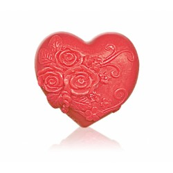 """RELIÉFNÍ glycerinové mýdlo """"srdce - red"""""""